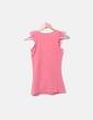 Camiseta rosa tirante encaje Lefties