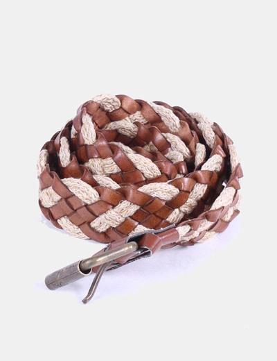 Cinturón bicolor trenzado Mango