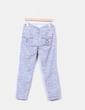 Pantalón gris floral Cortefiel