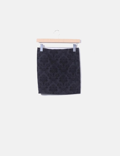 Mini falda negra terciopelo