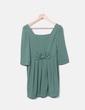 Vestido verde con lazo Pepaloves