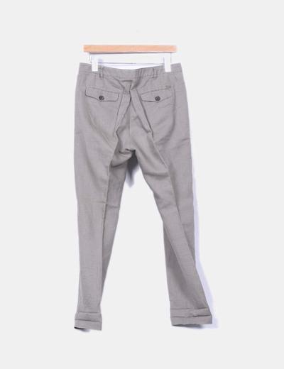 Pantalon caqui de lino