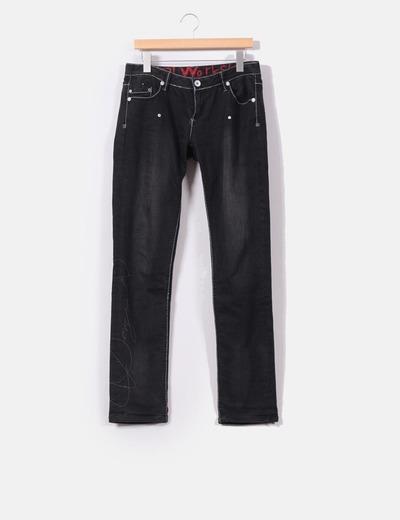 """Jeans negro """" Desigual""""  Desigual"""
