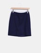 Falda midi azul marino Esprit
