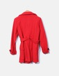 Abrigo rojo con botones negros Venca