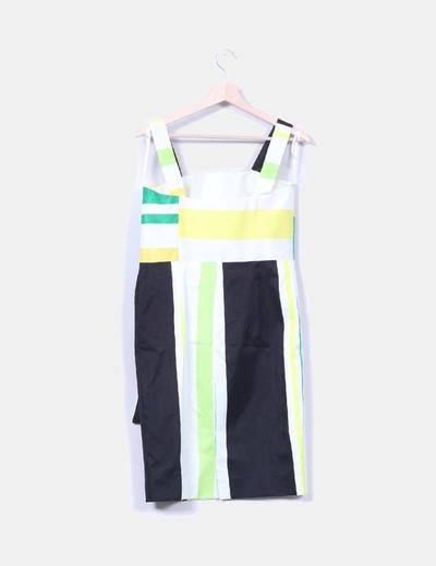 Conjunto de vestido y torera verde