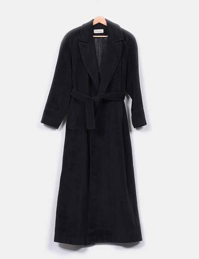 Abrigo de lana negro largo Calvin Klein