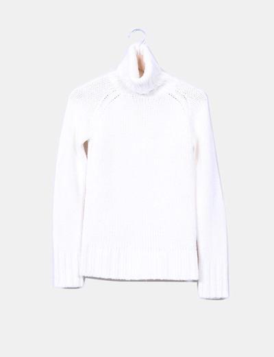 Jersey blanco cuello vuelto XDYE