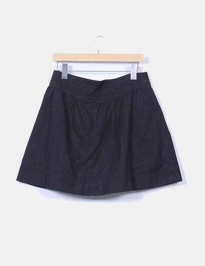 Falda lona negra evase