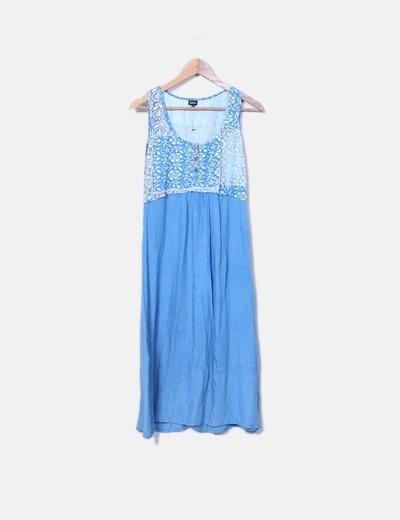 Robe bleue midi Natura