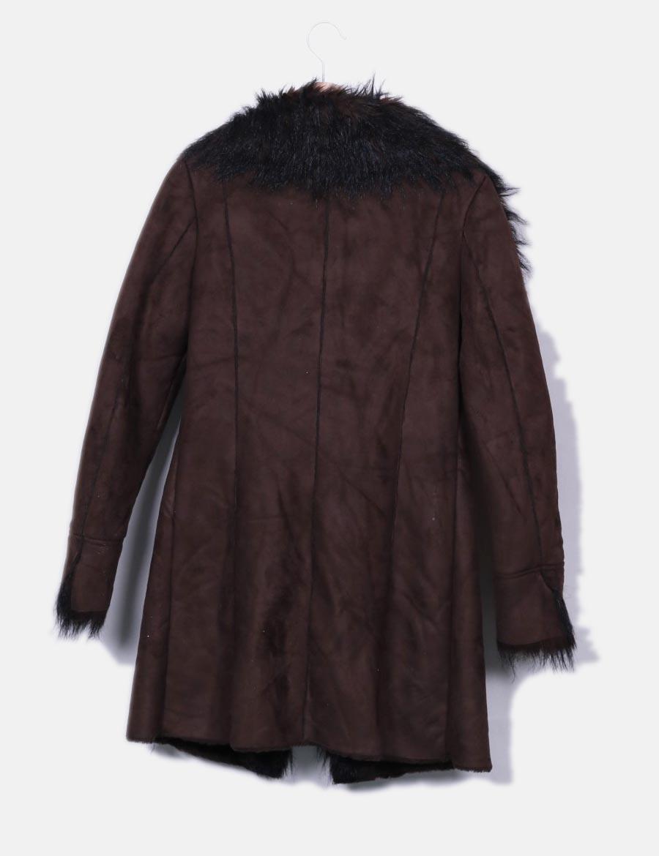 Marrón Zara Online Abrigos Y Chaquetas Mujer Baratos Abrigo De Pelo  FwxApEKqH 136ad7ac255d