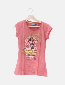 572a3255f Camiseta rosa print wonder woman Primark