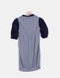 Vestido globo tricot gris Bershka