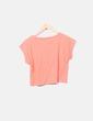 Camiseta naranja crop Lefties