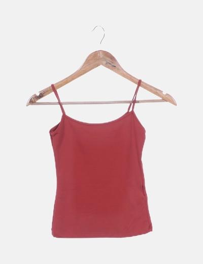 Camiseta tirantes color caldera