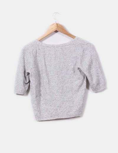 Torera lana gris jaspeado