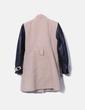 Abrigo marrón combinado con polipiel NoName