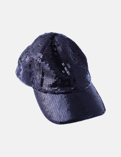Gorra negra de paillettes