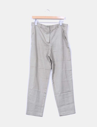 Pantalón recto verde Pennyblack