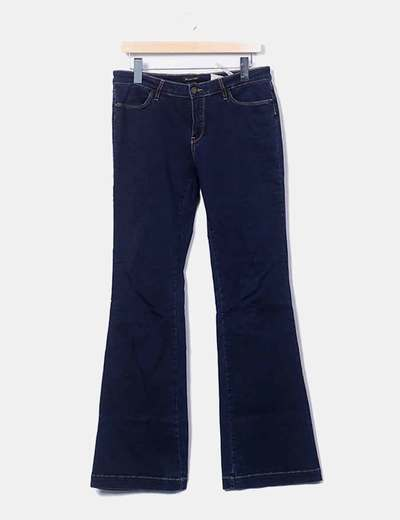Jeans denim campana azul marino