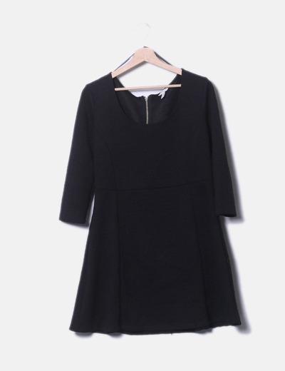 Vestido texturizado negro