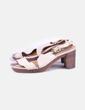 Sandales plate beiges -forme Adolfo Dominguez