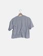 Camiseta manga corta gris con rayas Primark