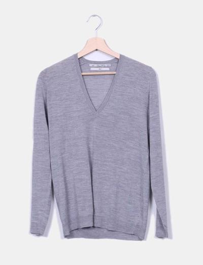 Zara Pull gris tricot (réduction 83%) - Micolet 734c9c683dc