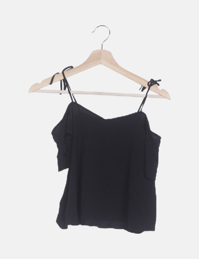 Blusa negra tirantes