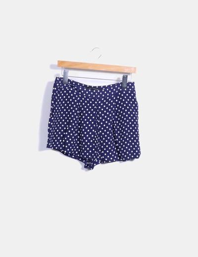 Short azul con topos blancos Zara