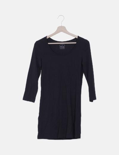 Vestido mini negro manga francesa