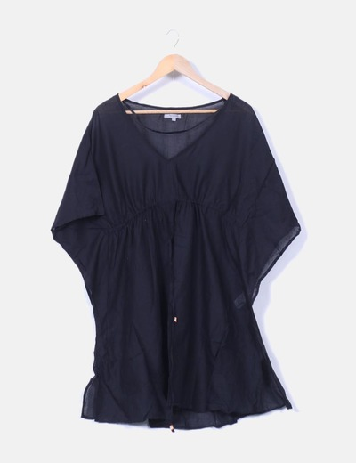 Blusa negra oversize playera Tex Woman