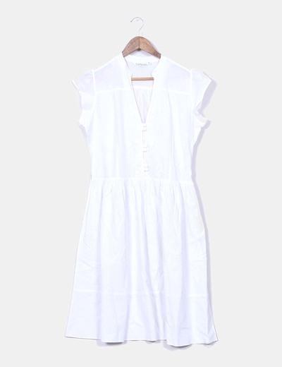 Robe blanche midi Topshop