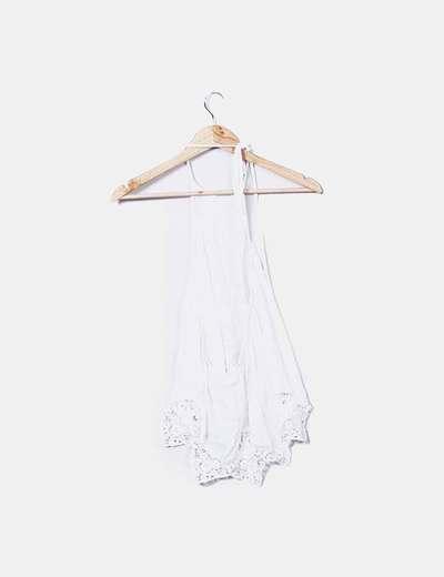 Blusa blanca cuello halter