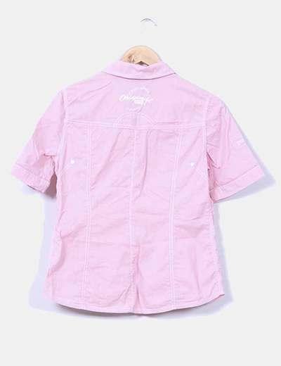 Camisa rosa de manga corta