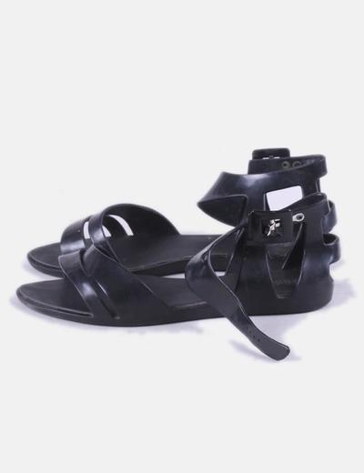 Sandalias de goma negras