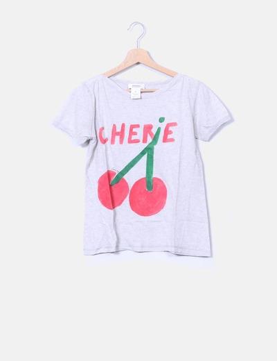 Camiseta gris estampada SONIA