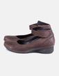 Zapato cuña marron Khrió