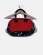 Bolso rojo y negro detalle acharolado Pepe Jeans