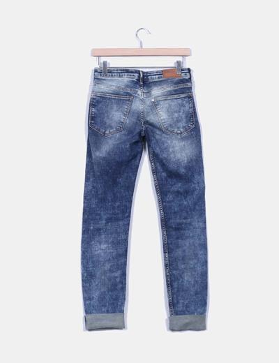Pantalon de nim efecto desgastado