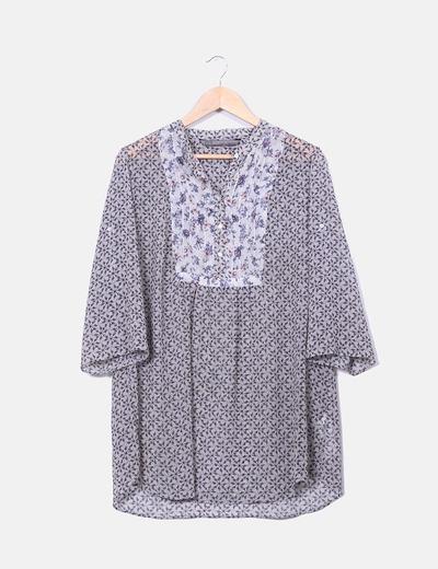 Camisola floral Zara