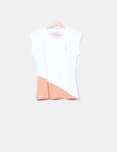 Camiseta bicolor manga corta SIROKO