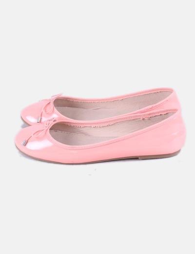 Bailarina acharolada rosa Zara