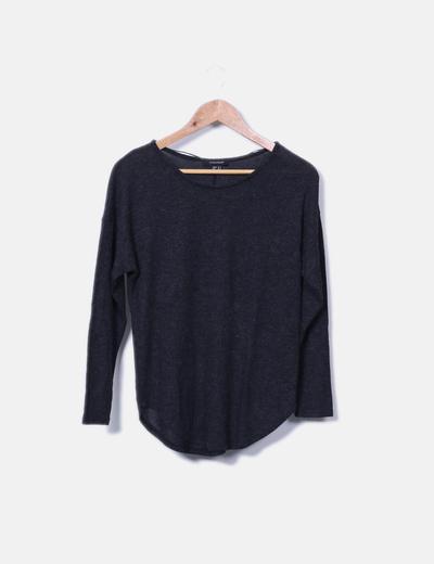 Camiseta de punto gris jaspeada Primark