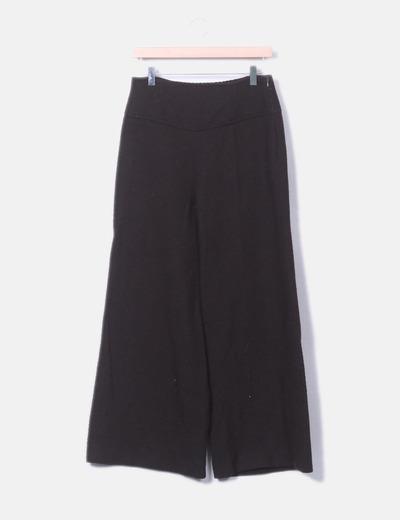 Pantalón y top marrón texturizado Promod
