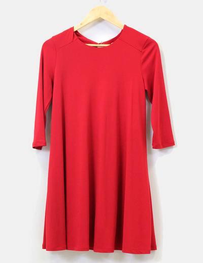 Vestido rojo lycra Bershka