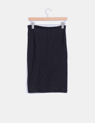 Falda alta tubo negro elastica