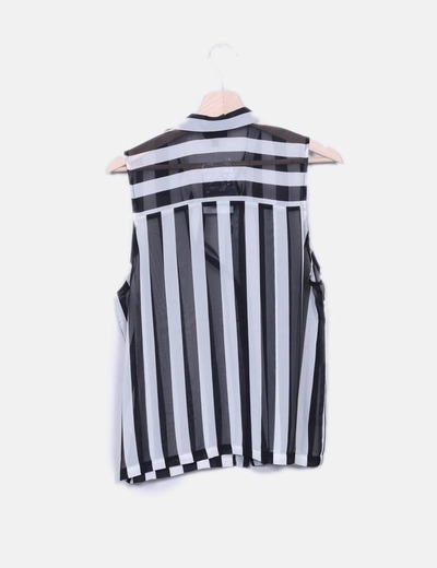 Camisa rayas sin mangas