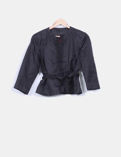 Kimono estructura negra  Carolina Herrera