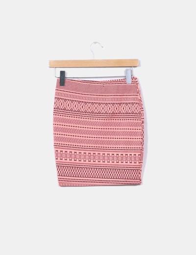 Mini falda fluor texturizada